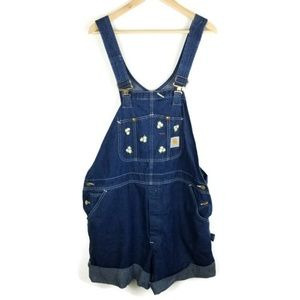 Carhartt Short Overalls Womens Embroidered 1215